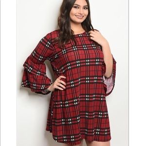 Dresses & Skirts - 'You Make It Easy' Red Black Plaid Dress (CURVY)